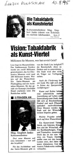 Scan: Linzer Rundschau 10.08.1995