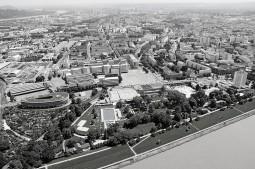 Fotomontage Tabakfabrik Linz ohne denkmalgeschützte Bauten: Martin Zisterer