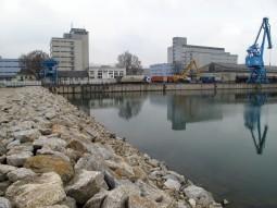 Hafen nach Verlandung